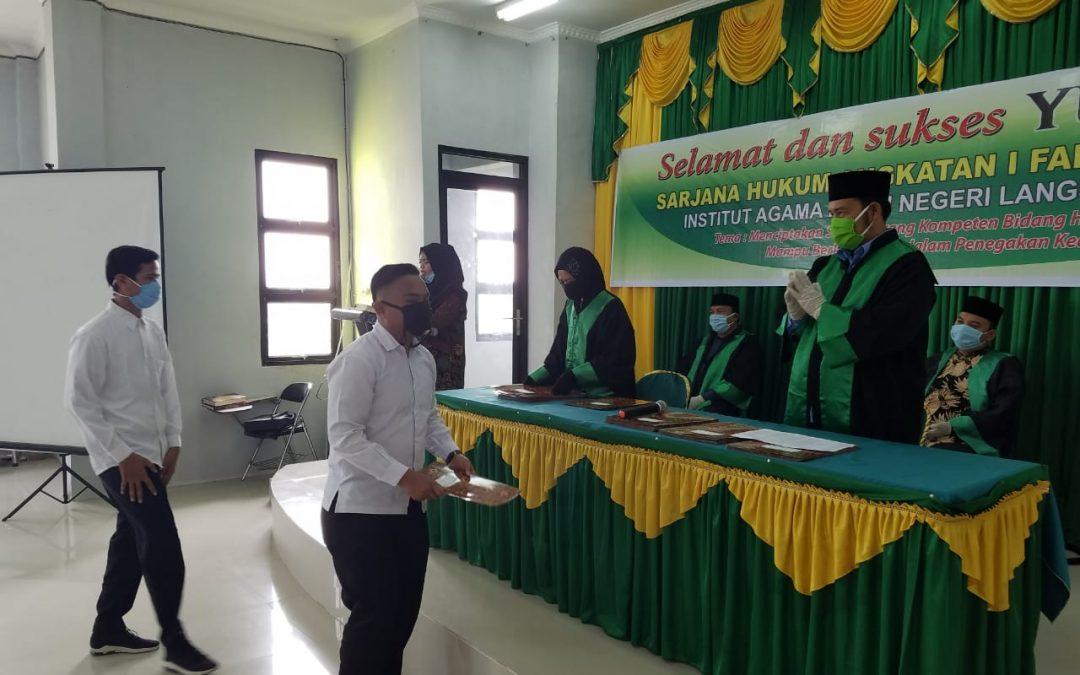 Fakultas Syariah IAIN Langsa Melaksanakan Yudisium Angkatan I Tahun 2020