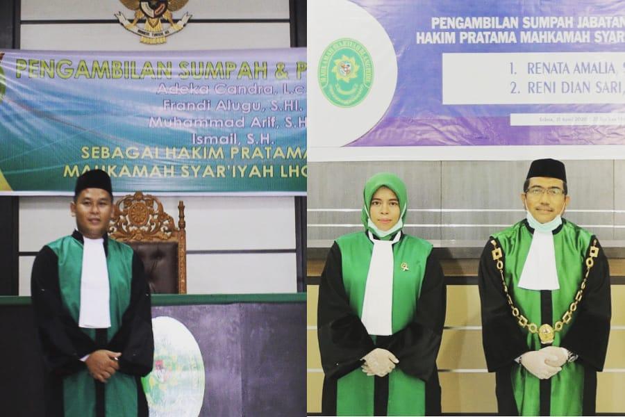 Dua Orang Alumni Fakultas Syariah IAIN Langsa Prodi Hukum Ekonomi Syariah (Muamalah) Resmi Menjadi Hakim di Mahkamah Syar'iah dalam Wilayah Provinsi Aceh