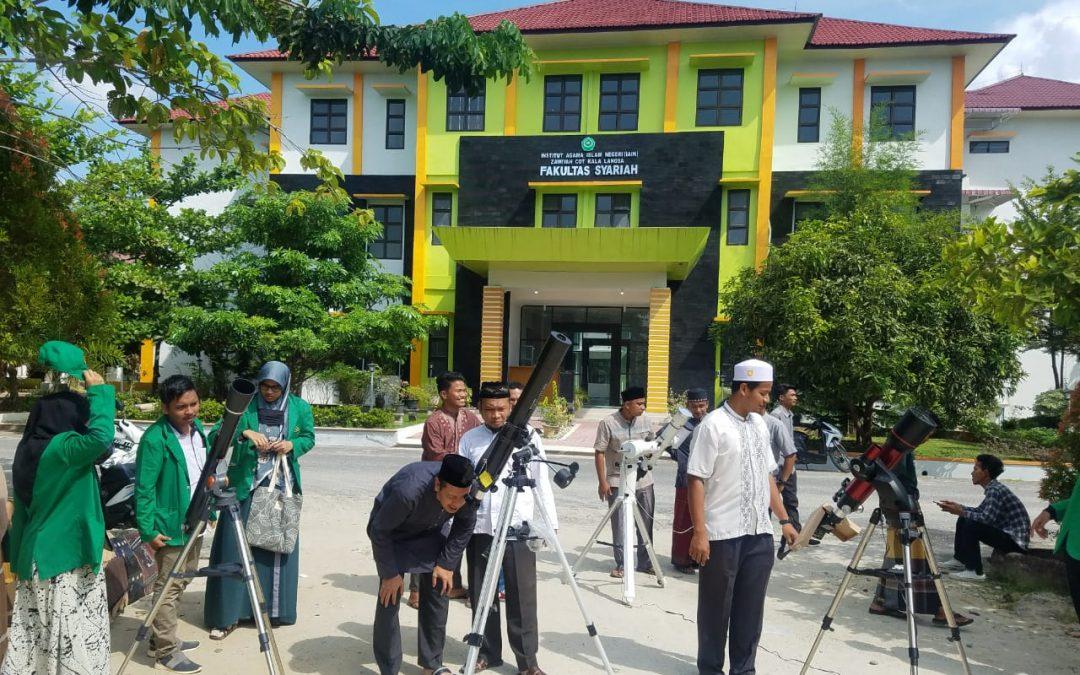 Fakultas Syariah IAIN Langsa Melakukan Observasi dan Shalat Gerhana Matahari Sebagian