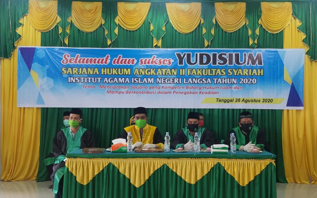 Fakultas Syariah IAIN Langsa Melaksanakan Yudisium Sarjana Angkatan II Tahun 2020