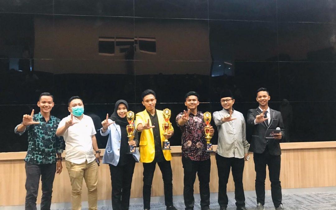 Ketua Himpunan Mahasiswa Jurusan (HMJ) Hukum Pidana Islam (HPI) Fakultas Syariah IAIN Langsa Meraih Juara III dalam Lomba Orasi Ilmiah Tingkat Nasional