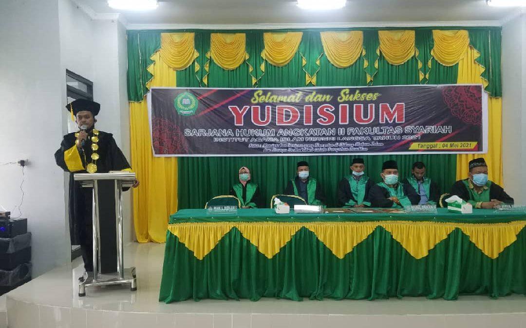 Fakultas Syariah IAIN Langsa Melaksanakan Yudisium Angkatan ke-II Tahun 2021