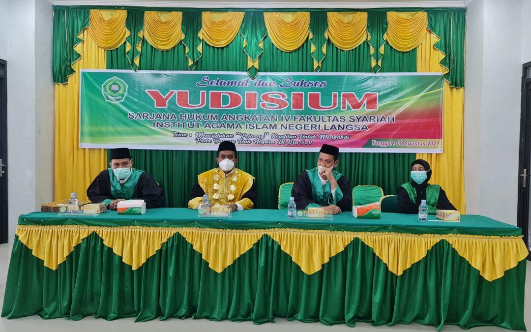 Fakultas Syariah IAIN Langsa Melaksanakan Yudisium Sarjana Angkatan IV Tahun 2021